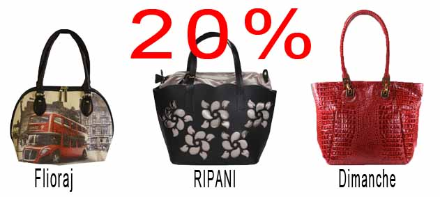 Скидки на женские сумки 20%!