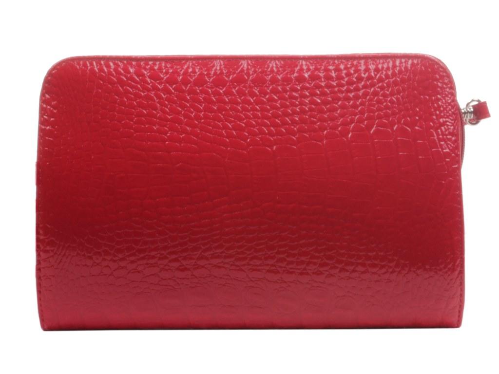 Клатч Mattioli женский лаковый красный маленький через плечо купить в магазине Шарпей.