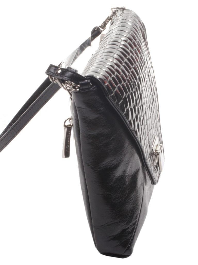 501b8ab877a8 Сумка женская Mattioli кожаная черная под рептилию маленькая через плечо  купить в интернет-магазине Шарпей ...