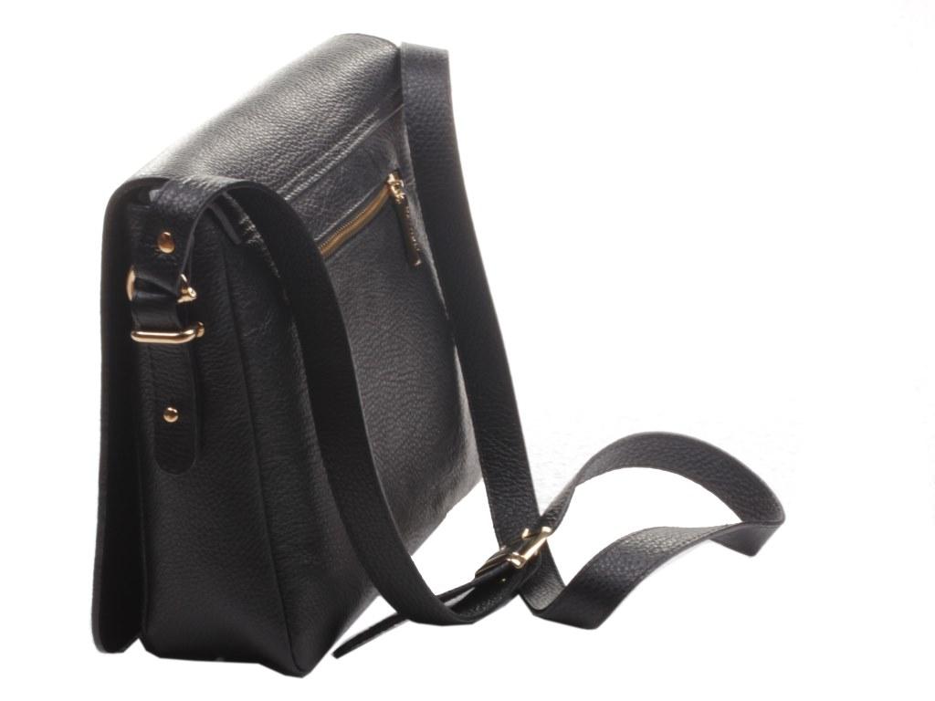 Сумка женская Mattioli кожаная черная маленькая через плечо купить в интернет-магазине Шарпей.