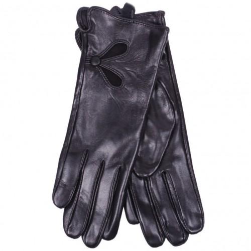 Перчатки женские Optimum 066N Перчатки женские Optimum 066N выполнены из мягкой натуральной кожи черного цвета. Материал подкладки – шелк.