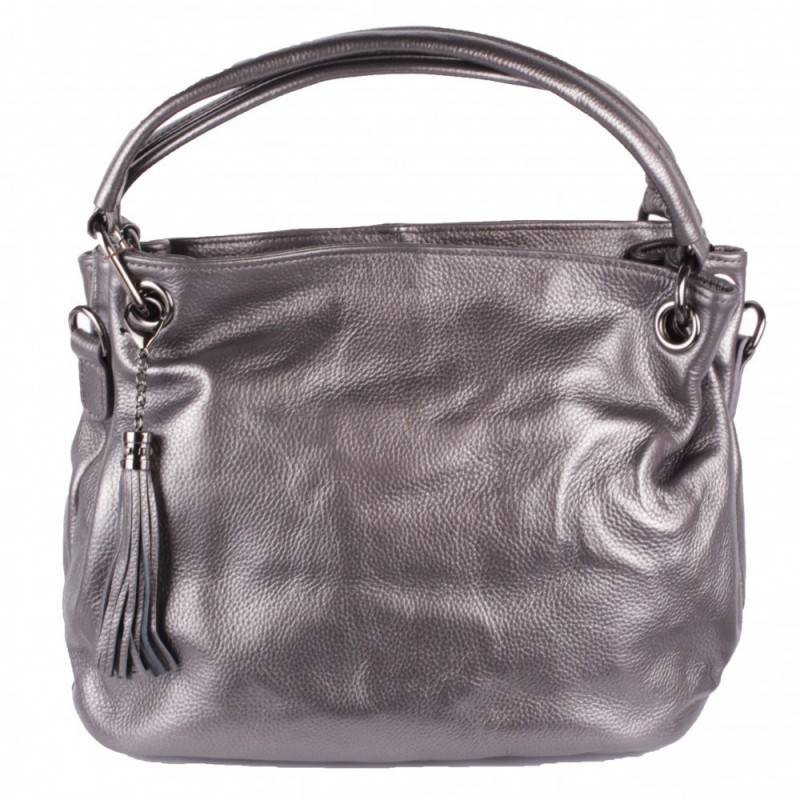 dff04ea013e4 Сумка женская кожаная Valensiy В-8812 серебро в интернет-магазине Шарпей