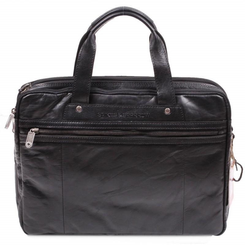 a1a98a5cecbe Кожаная сумка для ноутбука Spikes Sparrow 24244Ч купить в интернет ...