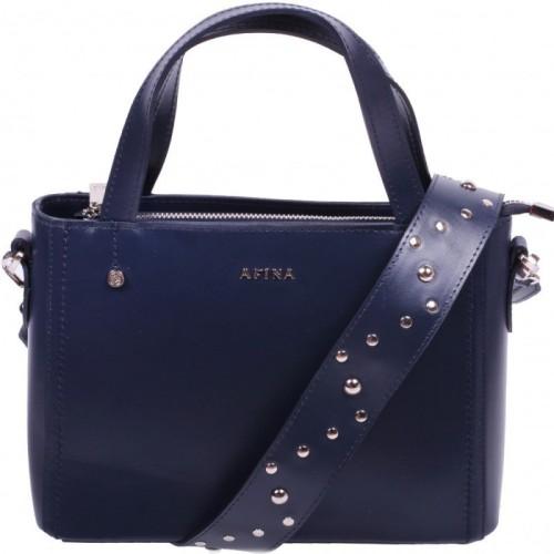 Сумка женская AFINA 248 син. х.к.И Сумка женская AFINA 248 син. х.к.И У сумки одно основное отделение, которое закрывается на застежку молния. Так же есть карман сзади. В комплекте к сумке идут два ремня через плечо.